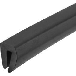 "Edge Trim U Seal Black PVC Plastic U Channel Edge Protector Fits 1/32"" - 1/16"" Edge 10 Feet Length"