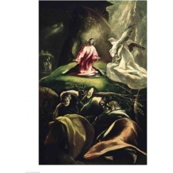 Posterazzi BALBAL53547LARGE The Agony in The Garden Poster Print by El Greco - 24 x 36 in. - Large