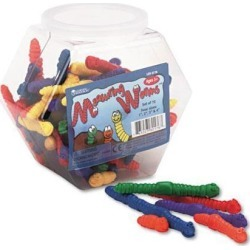 Learning Resources Measuring Worms Math Manipulatives for Grades Pre-K and Up