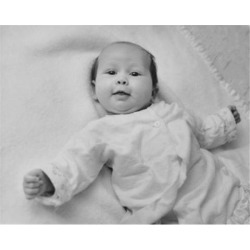 Posterazzi SAL2559203B Baby Lying on a Blanket & Smiling Poster Print - 18 x 24 in.