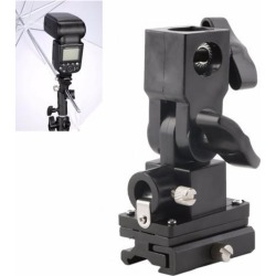 2pcs Universal Type B Hot Shoe Flash Umbrella Holder Swivel Light Stand Bracket For Camera