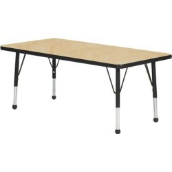 Mahar Manufacturing M3660BK-SB Rectangle Activity Table with Maple Top and Black Edge, 36 x 60 in.
