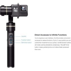 Feiyu G5 3-Axis Splash-Proof Handheld Gimbal for GoPro HERO 6/5/4/3+/3, Yi 4K and Various Action Cameras of Similar Sizes