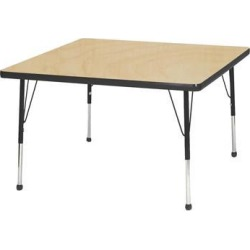 Mahar Manufacturing M36SQTA-SB Square Activity Table with Maple Top and Tan Edge, 36 in.