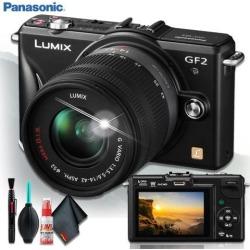 Panasonic Lumix G DMC-GF2K Digital Camera (BODY ONLY) + Cleaning Kit