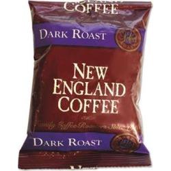 NEW ENGLAND COFFEE 026190 Coffee Portion Packs, French Roast, 2.50 oz. Pack, 24/Box