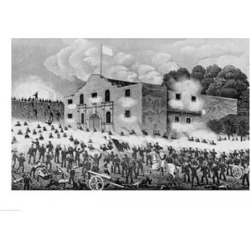 Posterazzi BALBAL111652LARGE The Siege of The Alamo Poster Print - 36 x 24 in. - Large