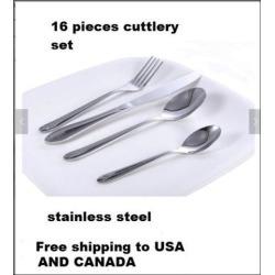 Stainless Steel 16 Piece flatware set serve 4 people