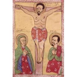Posterazzi SAL900102690 The Crucifixion 5th C. Artist Unknown Tempera Poster Print - 18 x 24 in.