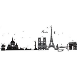 Unique Bargains Household French Architecture Pattern Removable Wall Sticker Decal Wallpaper found on Bargain Bro India from Newegg Canada for $12.24