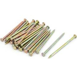 Fiber Concrete Cement Wall Zinc Alloy Wire Nails 80mm Length 4mm Shaft Dia 30PCS