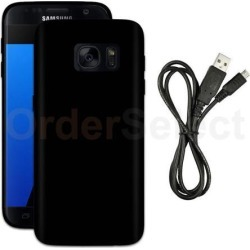USB Micro Cable+TPU Slim Plastic Protective Case for Phone Samsung Galaxy S7