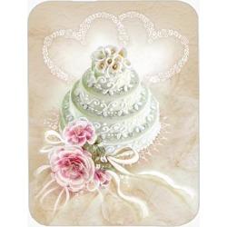 Wedding Cake Glass Cutting Board Large APH3648LCB