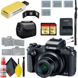 Canon PowerShot G1 X Mark III Digital Camera & 16GB MicroSD x2 & Carrying Case & Battery x3