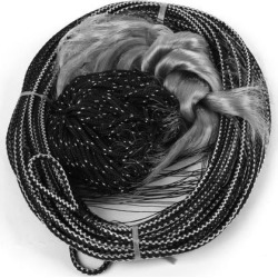 Unique Bargains 1.5' x 1.5' Nylon Fishing Gill Net Fish Angler Mesh Hole for Fishermen Black Gray