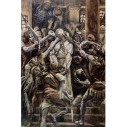 Posterazzi SAL999252 Christ Mocked in the House of Caiaphas James Tissot 1836-1902 French Poster Print - 18 x 24 in.