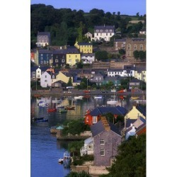 Posterazzi DPI1803209LARGE Kinsale Co Cork Ireland - Boats & Buildings in Kinsale Poster Print by The Irish Image Collection, 24 x 36 - Large