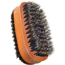 Two-sided Wooden Handle Bristles Shoe Brush Care Travel Polish Cleaning Tool