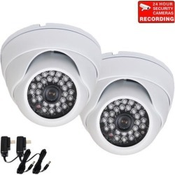 VideoSecu 2 Pack IR Day Night Vision Dome Outdoor Indoor Security Camera 3.6mm Wide View Angle Built-in 1/3' Sony Effio CCD 700TVL High Resolution for