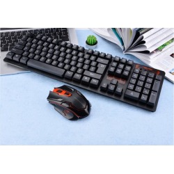 DOBACNER gaming keyboard New wireless keyboard and mouse set smart power-saving office multimedia wireless keyboard