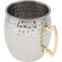 Stainless Steel Mug Moscow Mule Drink Coffee Cocktail Tea Travel Cup Silver