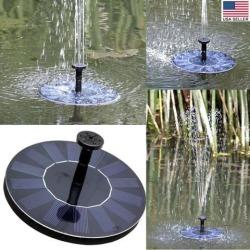 Cute Solar Powered Bird bath Fountain Pump, Free Standing Garden 1.4W Solar Kit