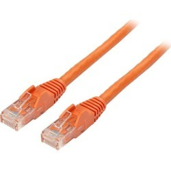 StarTech N6PATCH6INOR Cat6 Patch Cable - 6 in - Orange Ethernet Cable - Snagless RJ45 Cable - Ethernet Cord - Cat 6 Cable - 6in found on Bargain Bro India from Newegg for $6.45