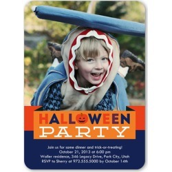 Spooks And Sweets Halloween Invitation, Rounded Corners, Blue found on Bargain Bro India from shutterfly.com for $2.79