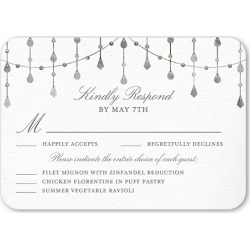 RSVP Cards: Radiant Sparkles Wedding Response Card, Rounded Corners, Black found on Bargain Bro India from shutterfly.com for $33.30