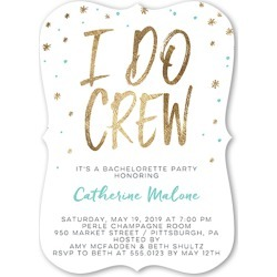Bachelorette Party Invitations: Sparkle Crew Bachelorette Party Invitation, Bracket Corners, 5x7 Flat Card found on Bargain Bro India from shutterfly.com for $2.99