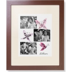 Framed Prints: Princess Watercolor Butterflies Framed Print, Brown, Contemporary, White, Cream, Single piece, wallart_11x14, Pin found on Bargain Bro India from shutterfly.com for $104.98