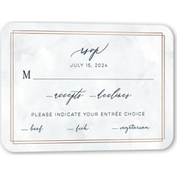 RSVP Cards: Bright Night Wedding Response Card, Rounded Corners, Blue found on Bargain Bro from shutterfly.com for USD $26.45
