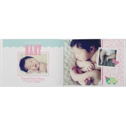 Photo Books: Classic Baby Girl Photo Book, Premium Leather Cover Book, Deluxe Layflat, 11x14, Infant Girl's found on Bargain Bro from shutterfly.com for USD $197.58