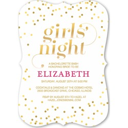 Bachelorette Party Invitations: Shimmering Night Bachelorette Party Invitation, Bracket Corners, Brown, 5x7 Flat Card found on Bargain Bro India from shutterfly.com for $2.98