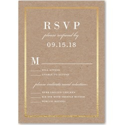 RSVP Cards: Simple Solid Frame Wedding Response Card, Square Corners, Beige found on Bargain Bro India from shutterfly.com for $2.19