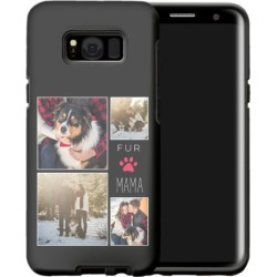 Samsung Galaxy Cases: Simply Chic Fur Mama Collage Samsung Galaxy Case, Silicone liner case, Glossy, Galaxy S8 Plus, Black, Phon found on Bargain Bro India from shutterfly.com for $57.99