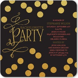 Bachelorette Party Invitations: Bubbling Bliss Bachelorette Party Invitation, Rounded Corners, Black, 5x5 Flat Card found on Bargain Bro India from shutterfly.com for $2.79