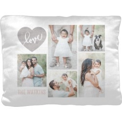Pillows: Love Wood Collage Pillow, Cotton Weave, Pillow (Ivory), 12 x 16, Single-sided, Beige found on Bargain Bro from shutterfly.com for USD $30.38