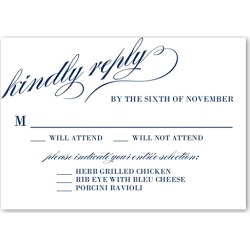 RSVP Cards: Modish Marriage Wedding Response Card, Square Corners, Blue found on Bargain Bro Philippines from shutterfly.com for $3.74