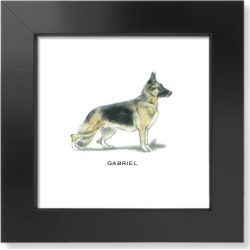 Art Prints: Best In Show German Shepard Art Print, White found on Bargain Bro from shutterfly.com for USD $53.18