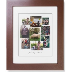 Gallery Collage of Nine Framed Print, Brown, Contemporary, Black, White, Single piece, 8 x 10 inches, White found on Bargain Bro India from shutterfly.com for $84.99