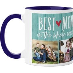 Mugs: Best Mom Mug, Blue, 11oz, Blue, Ceramic Mug