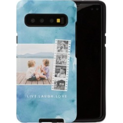 Samsung Galaxy Cases: Watercolor Filmstrip Collage Samsung Galaxy Case, Silicone liner case, Matte, PHONE_GALAXY_S10_5G, Blue, P