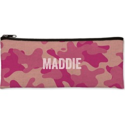 Pencil Cases: Adventure Camouflage Pencil Case, Pink