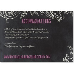 Enclosure Cards: Chalk Celebration Wedding Enclosure Card, Square Corners, Pink