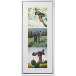 Three of a Kind Portrait Wall Art, White, Single piece, Mounted, 10x24, Multicolor found on Bargain Bro from shutterfly.com for USD $106.38