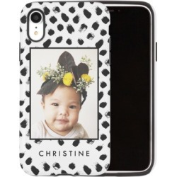 Custom iPhone Cases: Black and White Spots iPhone Case, Silicone liner case, Matte, iPhone XR, White found on Bargain Bro Philippines from shutterfly.com for $54.99