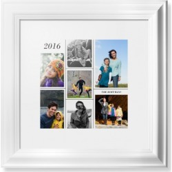 Framed Prints: Contemporary Grid Framed Print, White, Classic, None, White, Single piece, 12x12, White found on Bargain Bro Philippines from shutterfly.com for $114.98