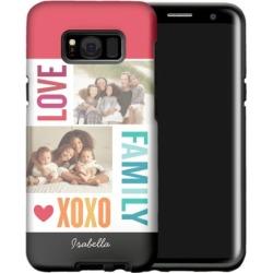 Family Love XOXO Samsung Galaxy Case, Silicone liner case, Glossy, Samsung Galaxy S8 Plus, White