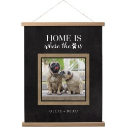 Hanging Canvas Prints: Rustic Home Is Where the Paw Is Hanging Canvas Print, HANGING_CANVAS_NATURAL, HANGING_CANVAS_16X20, Black found on Bargain Bro from shutterfly.com for USD $53.18